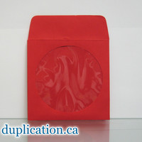 Red CD disc sleeves