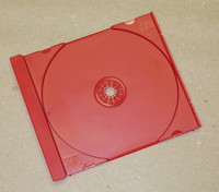 Red CD Tray for Jewel Box