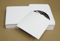 Flat White Cardboard Sleeves for CD-DVD 1000 pieces wholesale pricing