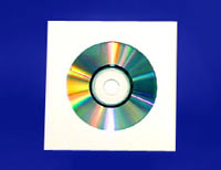 Matte White Cardboard CD Jacket with Diecut Hole