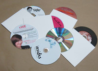 Uncoated 15 pt White Cardboard Sleeve for CD DVD