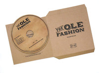 Recycled Cardboard CD Jacket Flat for Printing