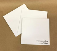 Cardboard sleeve for CD, coated board, with logo