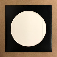 300 Black Cardboard Sleeves With Hole for CD, coated board