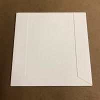 500 Cardboard sleeves for CD, coated board, glue flaps on outside