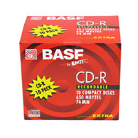 BASF Emtec 74 minute CD-R Jewel Cased Single Piece