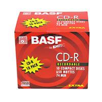 BASF Emtec 74 minute CD-R Jewel Cased Single Piece