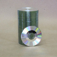80mm  Shiny Silver Mini-CDR 100pk