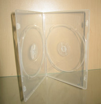 CLEAR SLIM 7mm Double DVD Box