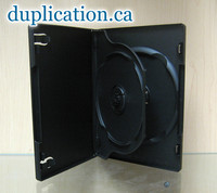 Double DVD Case 14+mm with tray and full outer sleeve