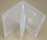 Triple DVD Case 15mm, Clear