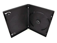 Pro Quality black 15mm Single DVD Case Expandable To Hold 2 Discs - Made in Canada