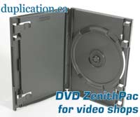 ZenithPac(tm) Secure Double DVD case for video shops