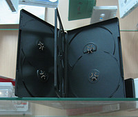 Black 6-DVD Case 14mm with overlay