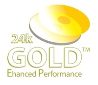 25pk Falcon DVD-R 8X 24K Gold EP Smart White Inkjet with outer Gold Ring