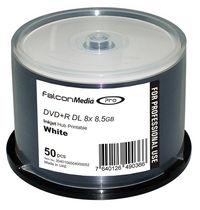 Falcon DVD+R DL 8.5GB 8X White Inkjet Hub Printable