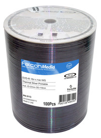 Falcon DVD-R 16X Silver Thermal Hub Printable (Everest and Teac P55)
