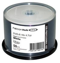 Falcon UHC DVD-R 16X White Inkjet Hub Printable