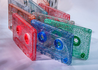 Glitter Cassette Tapes, Blank Custom-Loaded With Music Grade Normal Bias Tape