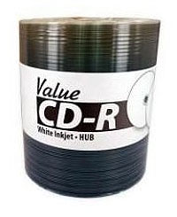 CMC PRO (TY Technology) white inkjet hub printable Valueline CD-R (100) +CPCC LEVY