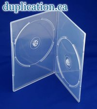 DVD Box 7mm Clear Double F/S 200 pieces