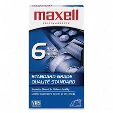 Maxell VHS Tape T-120 Standard Grade (6 Hours)