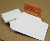 Audio Cassette O-Card Blank White Flats 50-pack with Shipping Included
