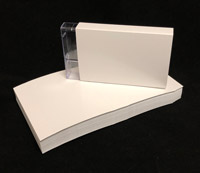 Cassette Norelco Case O-Card Blank White Flats on Cougar Smooth Cover 100-pack