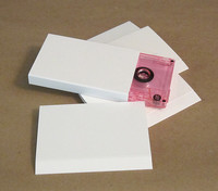 Blank White Cassette O-Cards, 15 Point Matte White Board 100pk