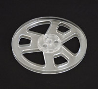 "Brand new 7"" plastic reel for your Reel to Reel tape recorder - clear, white, black, or blue"