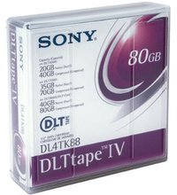Sony DLTtape IV, 35 GB native / 70 GB compressed space, compatible with DLT4000 & DLT7000 drives