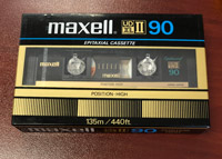 Maxell UD-XLII - 90 CrO2 Blank Audio Cassette Tape Vintage