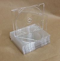 Crystal Clear CD Slimline 5.2mm, Pro Grade, 10 pieces