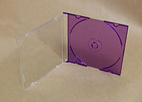 Purple CD Slimline 5.2mm, Pro Grade, 10 Pack
