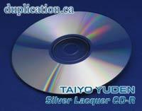 Taiyo Yuden Shiny Silver CD-R (100 pcs)