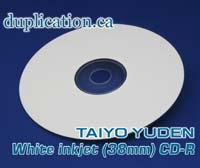 Taiyo Yuden Inkjet printable CD-R 38mm center (100 pieces) +CPCC LEVY