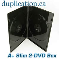 SLIM 7mm Double DVD Box