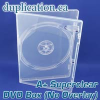 Super clear DVD box without overlay