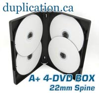 DVD 4 Disc Case - 22mm Spine