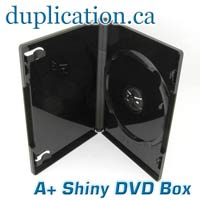 Shiny black DVD case with full outer sleeve