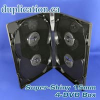 DVD 4 Disc Case 15mm