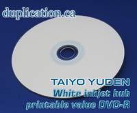 Taiyo Yuden White Inkjet DVD-R *VALUE LINE* 100PK
