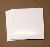 """Semi-Glossy White 12"""" LP Jackets (Covers) - 70 Pieces"""