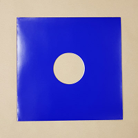 "Blank Blue Jacket for Vinyl 12"" Records With Hole - 10pk"