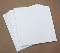 """Blank White Uncoated PRINTABLE Jackets for 12"""" Vinyl Records 110 pieces"""