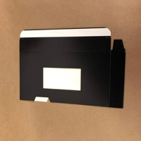 Black Side Load VHS Sleeve With Window