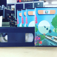 VHS duplication w/ Clear Library Cases and Printed Covers