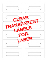 Transparent Audio Cassette Labels For Laser Printers - 12 up