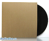 "Recycled Chipboard Jacket for Vinyl 12"" Records - 100 pieces"