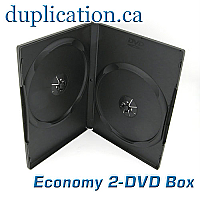 Slim 7mm Black 2-DVD Case with overlay